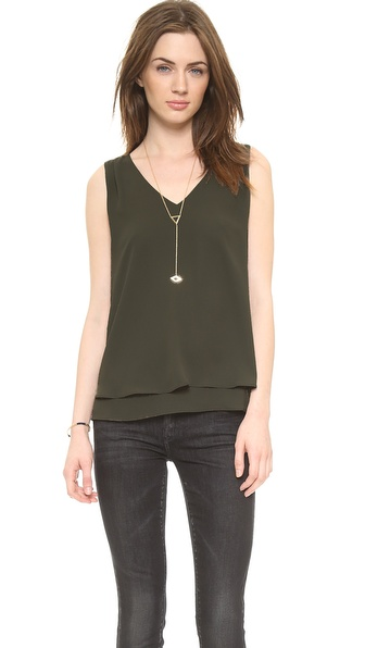 And B Sleeveless Top