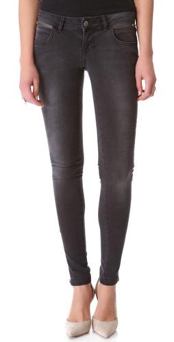 ANINE BING Double Zip Skinny Jeans