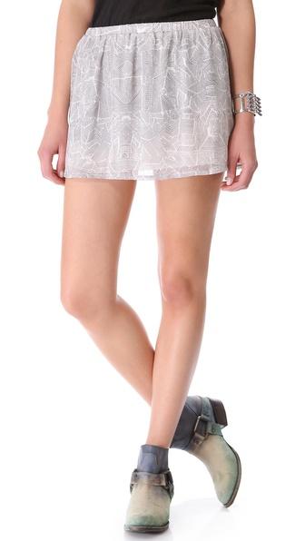 ANINE BING Printed Miniskirt