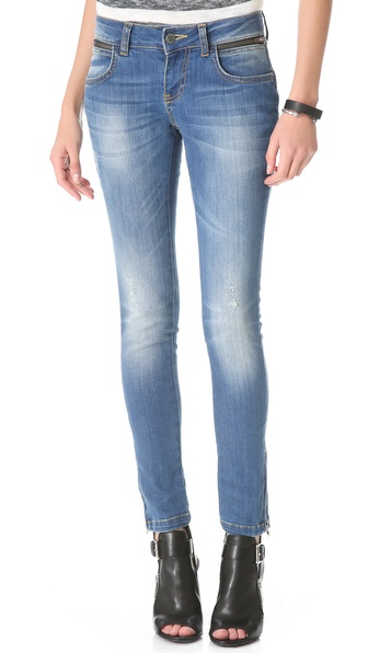 ANINE BING Skinny Two Zip Jeans