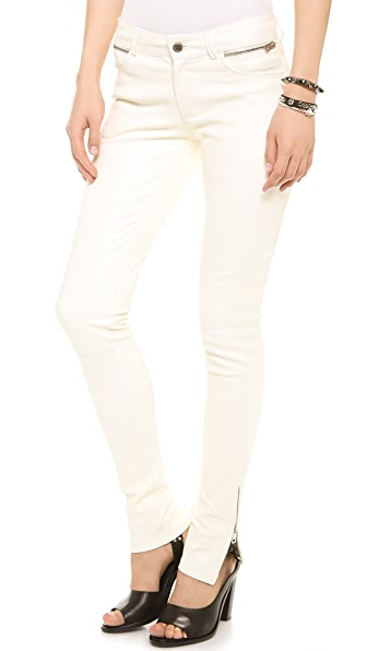 ANINE BING Double Zip Leather Pants
