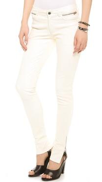 ANINE BING Double Zip Leather Pants