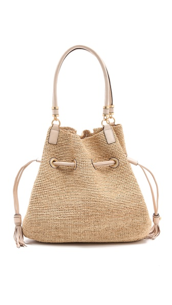 Annabel Ingall Romane Drawstring Raffia Bag