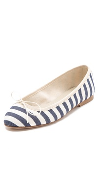 Anniel Striped Ballet Flats