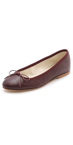 Shop Anniel online and buy Anniel Ballet Flats - Soft leather flats in classic ballet style. These are trimmed with grosgrain piping along the top line and a bow details the vamp. Stacked heel and leather sole.  Leather: Goatskin. Made in Italy. This item cannot be gift-boxed. - Mosto