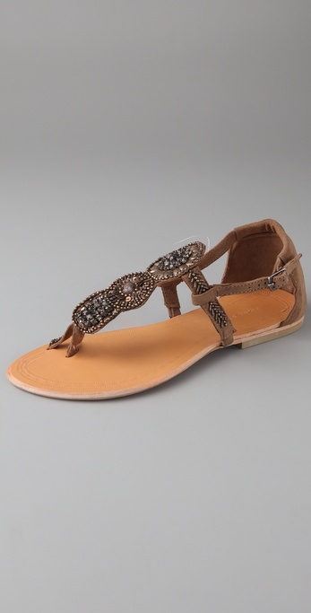 Antik Batik Kiss Suede Flat Sandals