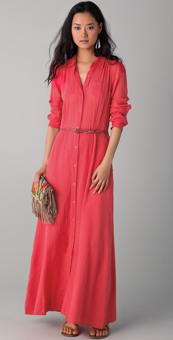 Antik Batik Marina Shirt Dress with Belt