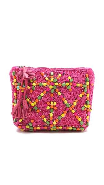 Antik Batik Crochet Pouch