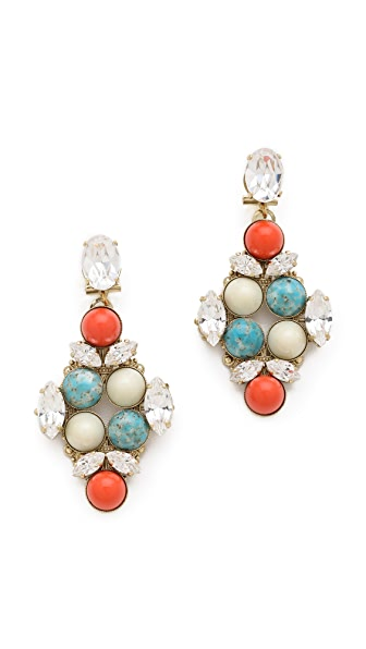 Anton Heunis Crystal Drop Earrings