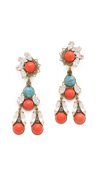 Anton Heunis Cabochon Drop Earrings
