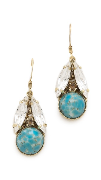 Anton Heunis Leaf Drop Earrings