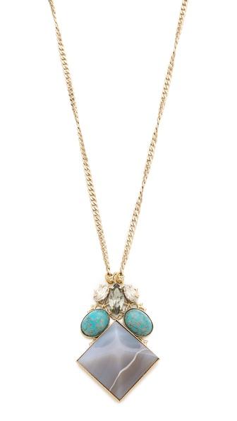 Anton Heunis Crystal Pyramid Necklace