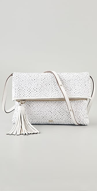 Anya Hindmarch Huxley Woven Leather Clutch