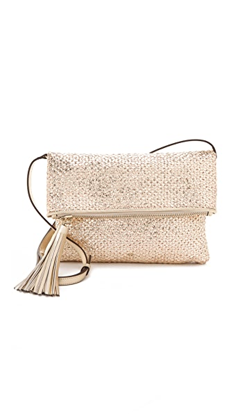 Anya Hindmarch Metallic Huxley Clutch