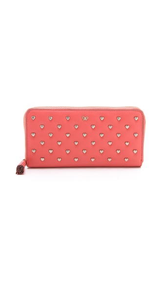 Anya Hindmarch Studded Heart Joss Wallet