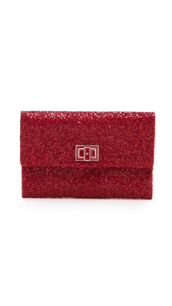 Anya Hindmarch Valorie Clutch - Medium Red