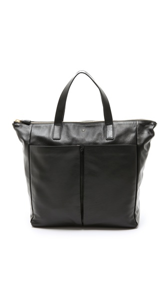 Anya Hindmarch Nevis Zipped Tote - Black