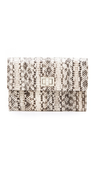 Anya Hindmarch Valorie Clutch - Natural