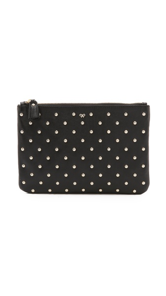 Anya Hindmarch Joss Zip Top Pouch - Black