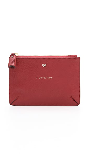 Anya Hindmarch Loose Pockets 'I Love You' Pouch