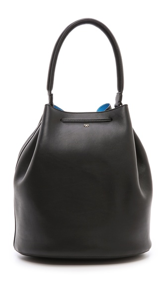 Anya Hindmarch Vaughan Bucket Bag - Black/London Blue