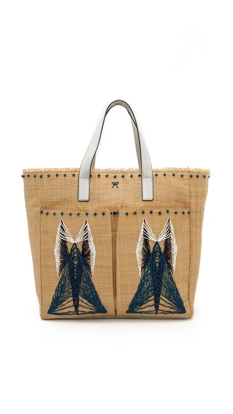 Anya Hindmarch Nevis Pinart Tote - London Blue