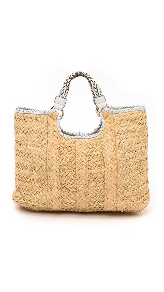 Anya Hindmarch Neeson Tote - Clementine/White/Light Grey