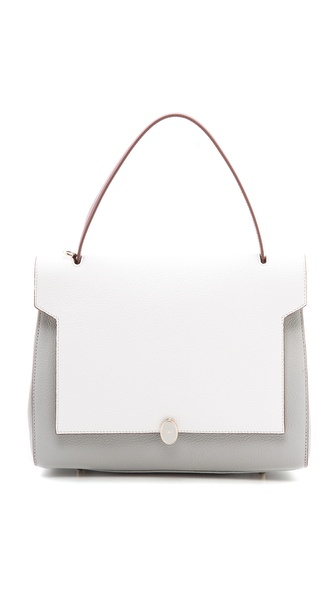 Anya Hindmarch Bathurst Deconstructed Satchel - Light Blue