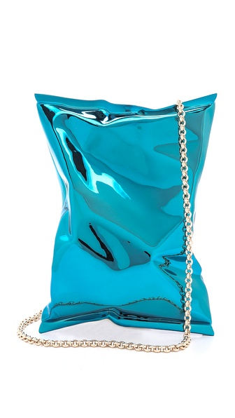 Anya Hindmarch Crisp Packet Clutch - London Blue