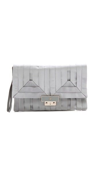 Anya Hindmarch Ebenezer Small Clutch - Light Blue