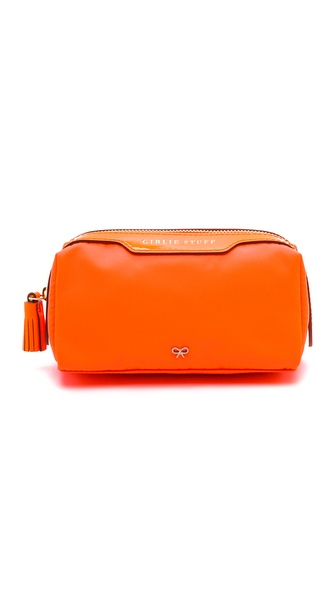 Anya Hindmarch Girlie Stuff Wash Bag - Clementine