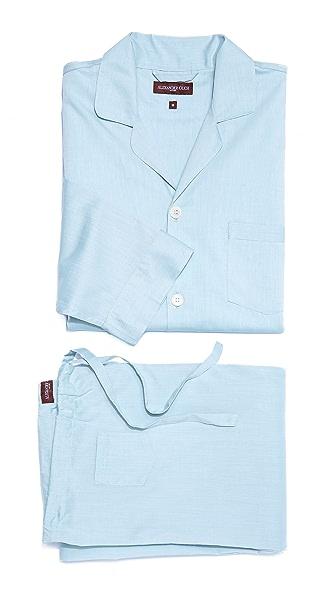 Alexander Olch Solid Pajama Set