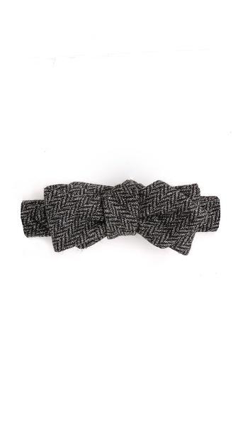 Alexander Olch Grey Brown Bow Tie