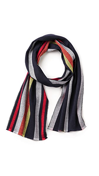 Alexander Olch Double Face Stripe Scarf