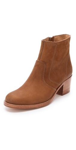 A.P.C. Stacked Heel Ankle Boots at Shopbop.com