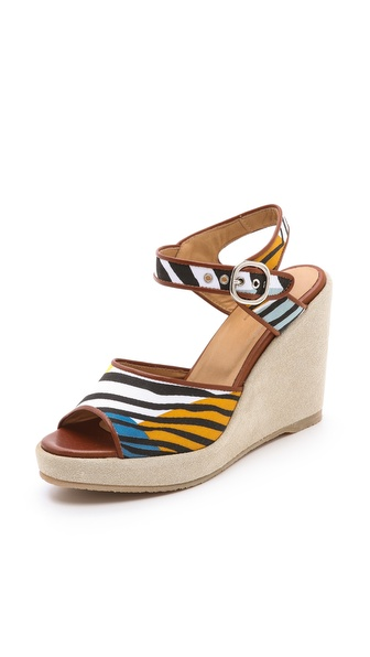 A.P.C. Zebra Wedge Sandals