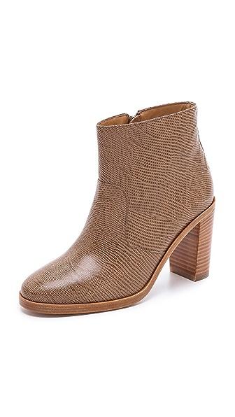 A.P.C. Embossed Heel Booties
