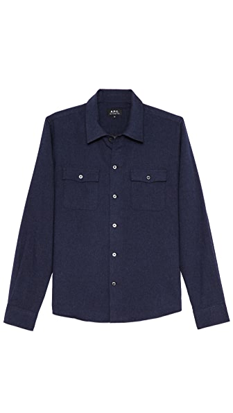 A.P.C. Cotton Flannel 2 Pocket Sport Shirt