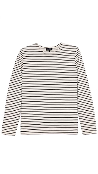 A.P.C. Mariniere Stripe Long Sleeve Tee