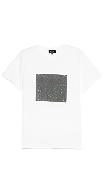 A.P.C. Star Print Short Sleeve T Shirt