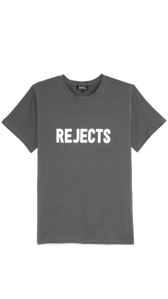 A.P.C. Rejects Print Short Sleeve T Shirt