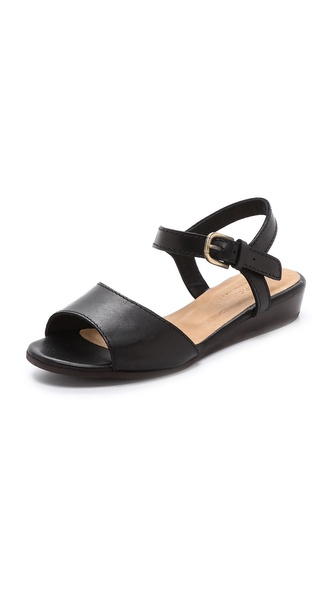 A.P.C. Demi Wedge Sandals - Noir at Shopbop / East Dane