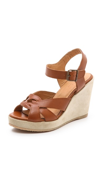 A.P.C. Wedge Sandals - Caramel at Shopbop / East Dane