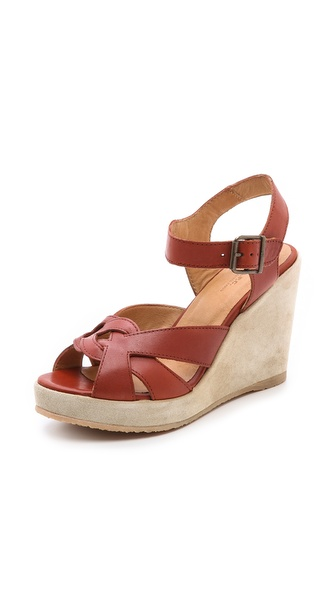 A.P.C. Wedge Sandals - Brique at Shopbop / East Dane