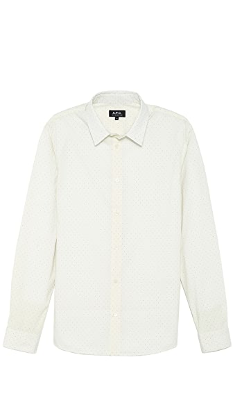 A.P.C. Small Dot Print Sport Shirt