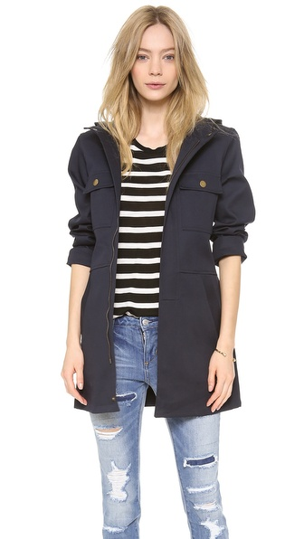 A.P.C. Seaside Parka - Dark Navy at Shopbop / East Dane