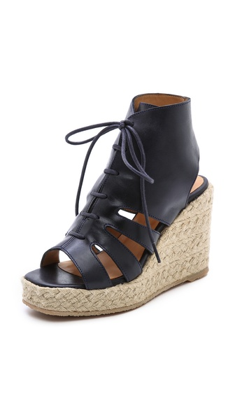 A.P.C. Espadrille Wedges - Marine at Shopbop / East Dane