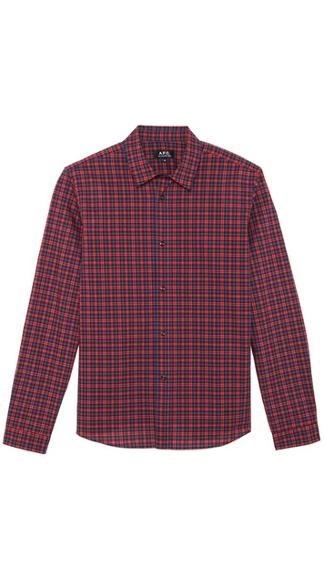 A.P.C. Plaid Mike Shirt