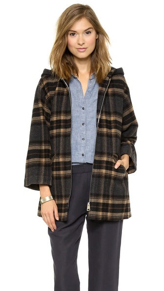 A.P.C. Burnou Zippe Coat