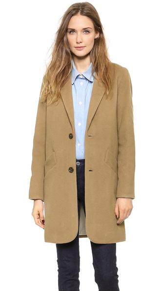 A.P.C. Manteau Chesterfield Coat